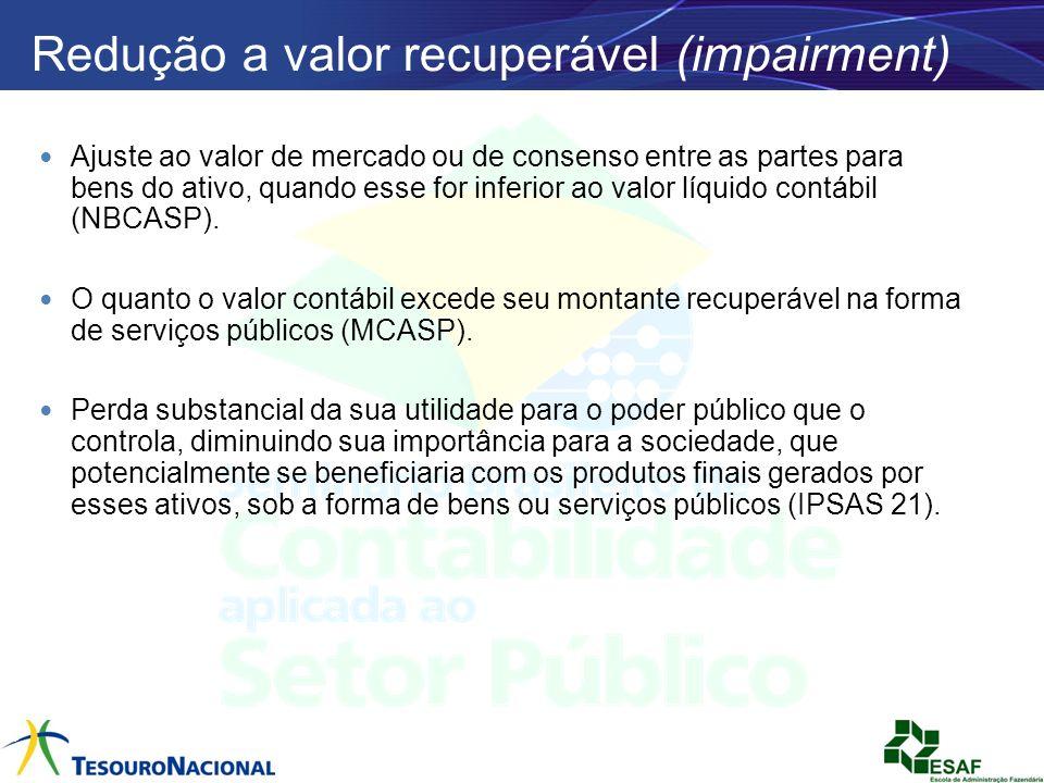 Redução a valor recuperável (impairment)