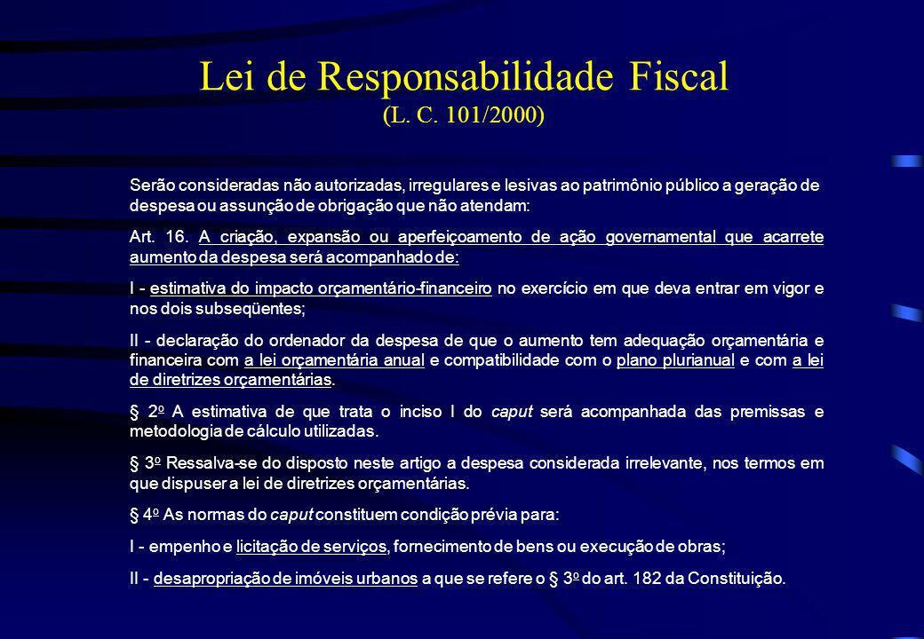 Lei de Responsabilidade Fiscal (L. C. 101/2000)