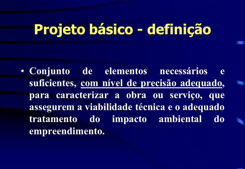 Projeto básico - definição