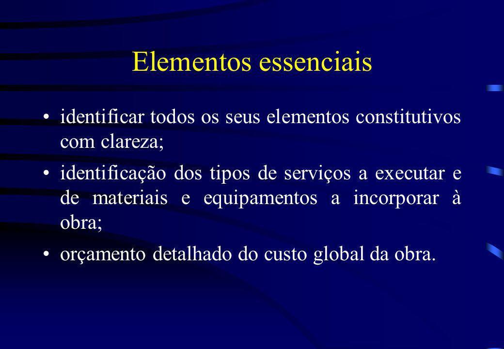 Elementos essenciais identificar todos os seus elementos constitutivos com clareza;