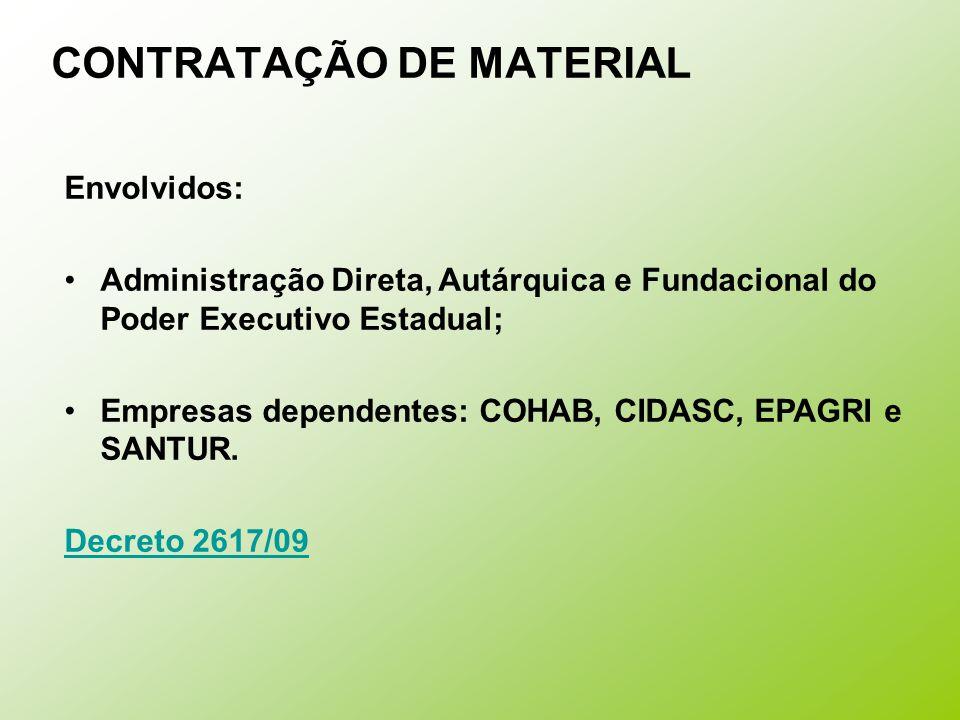 CONTRATAÇÃO DE MATERIAL