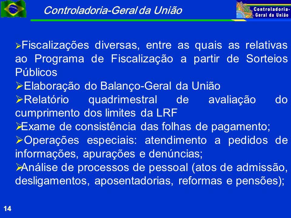 Elaboração do Balanço-Geral da União