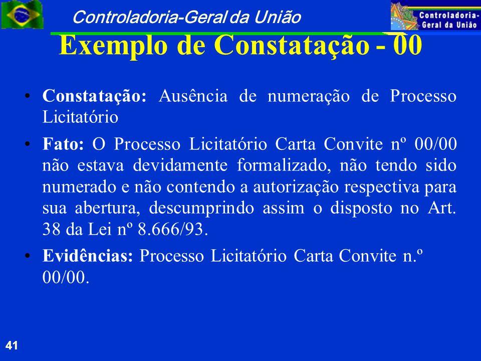 Exemplo de Constatação - 00