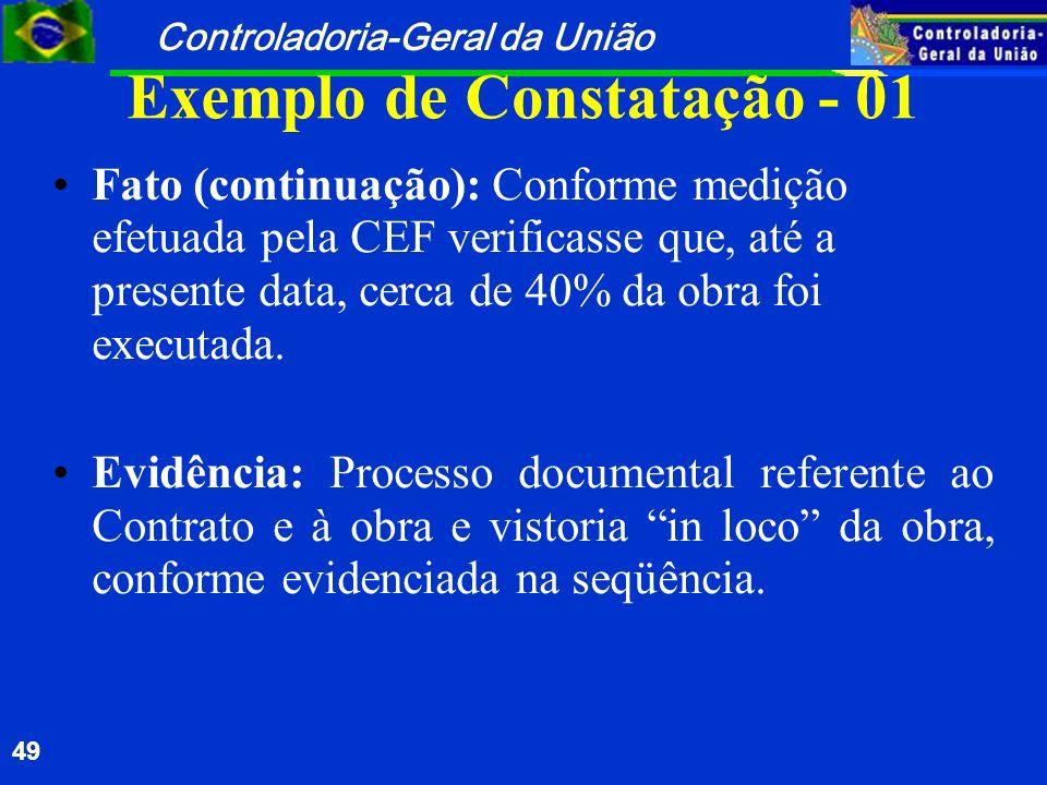 Exemplo de Constatação - 01