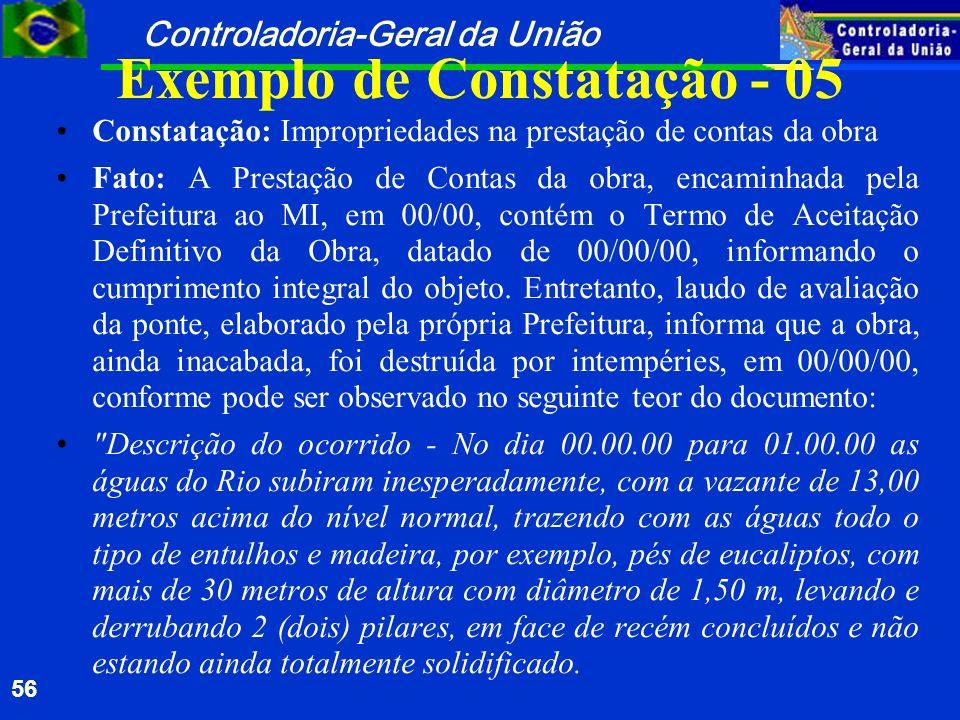 Exemplo de Constatação - 05