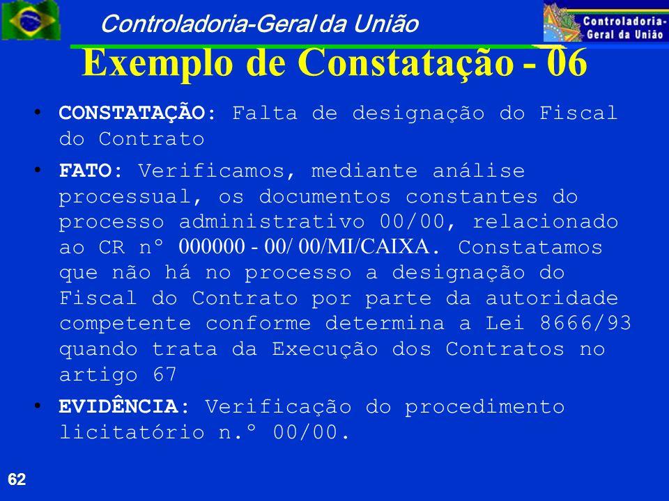 Exemplo de Constatação - 06