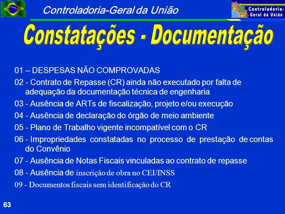 Constatações - Documentação