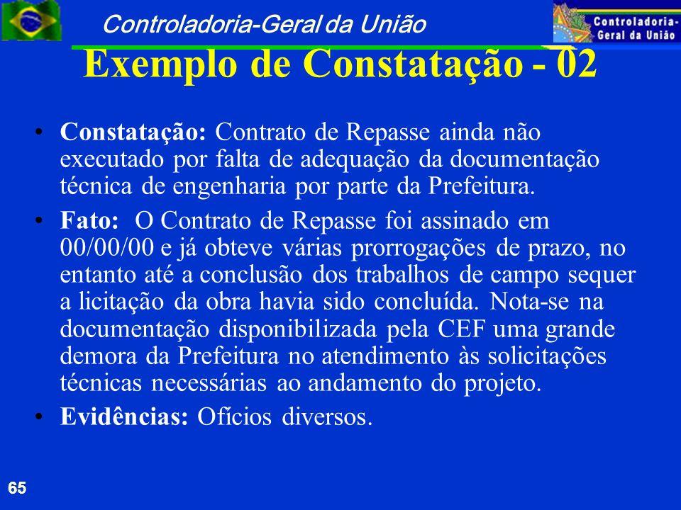 Exemplo de Constatação - 02