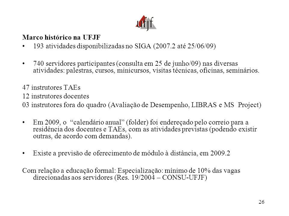 Marco histórico na UFJF