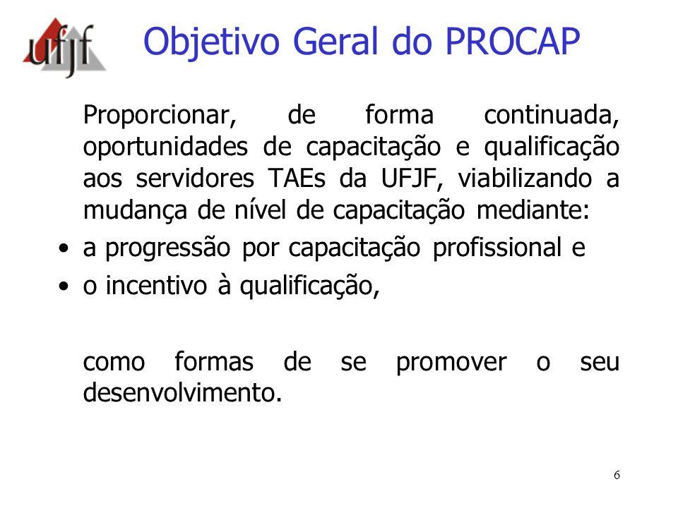 Objetivo Geral do PROCAP