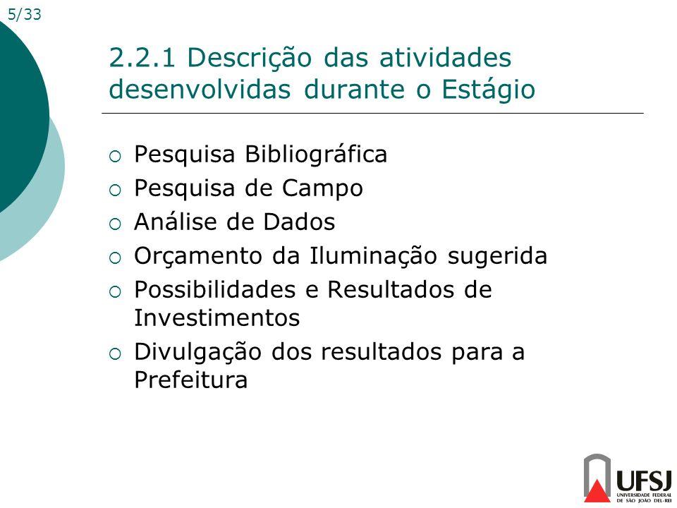 2.2.1 Descrição das atividades desenvolvidas durante o Estágio