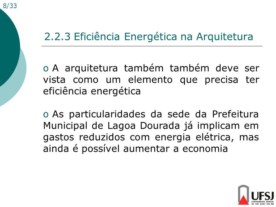 2.2.3 Eficiência Energética na Arquitetura