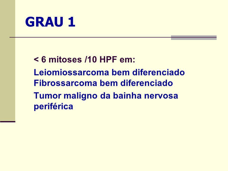 GRAU 1 < 6 mitoses /10 HPF em: