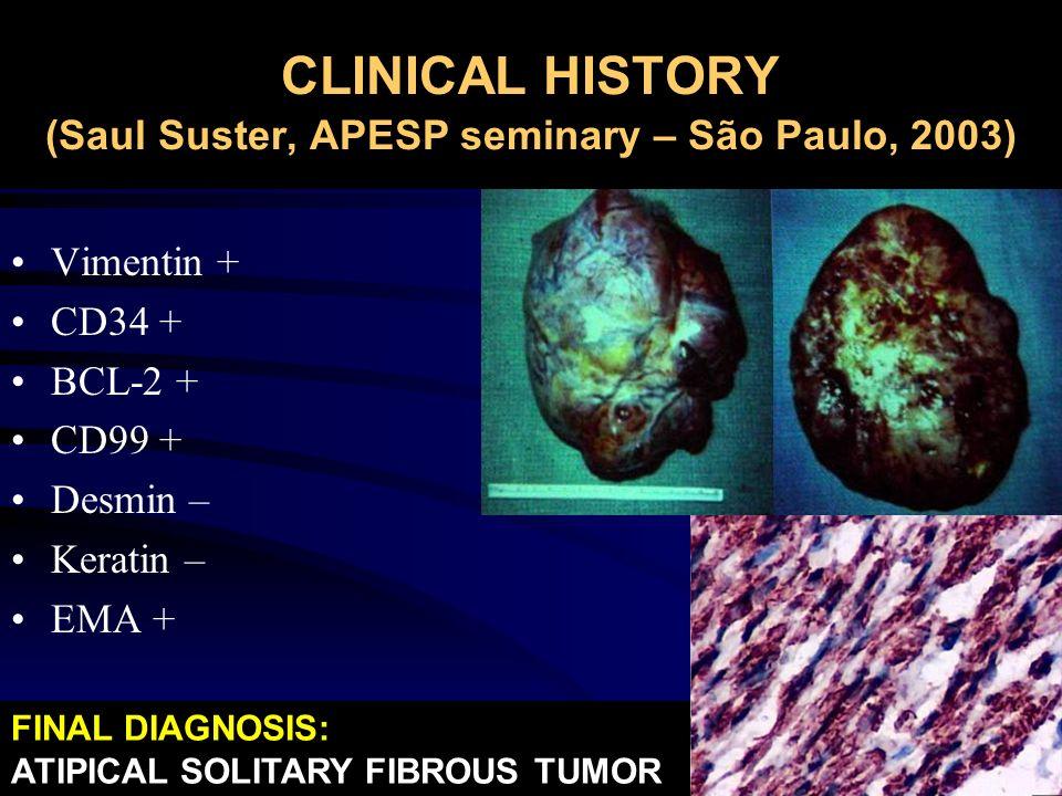 CLINICAL HISTORY (Saul Suster, APESP seminary – São Paulo, 2003)