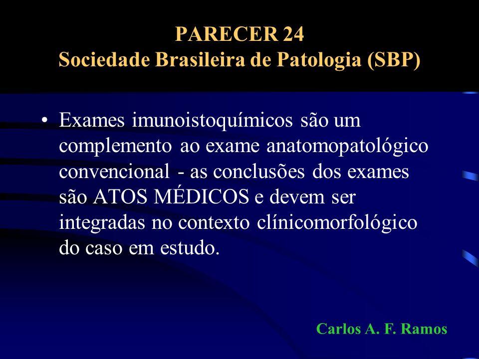 PARECER 24 Sociedade Brasileira de Patologia (SBP)
