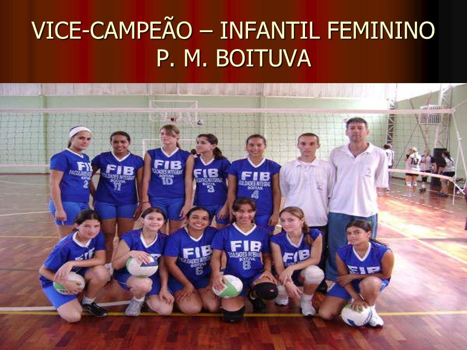 VICE-CAMPEÃO – INFANTIL FEMININO P. M. BOITUVA