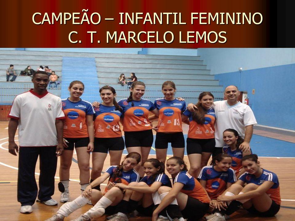 CAMPEÃO – INFANTIL FEMININO C. T. MARCELO LEMOS