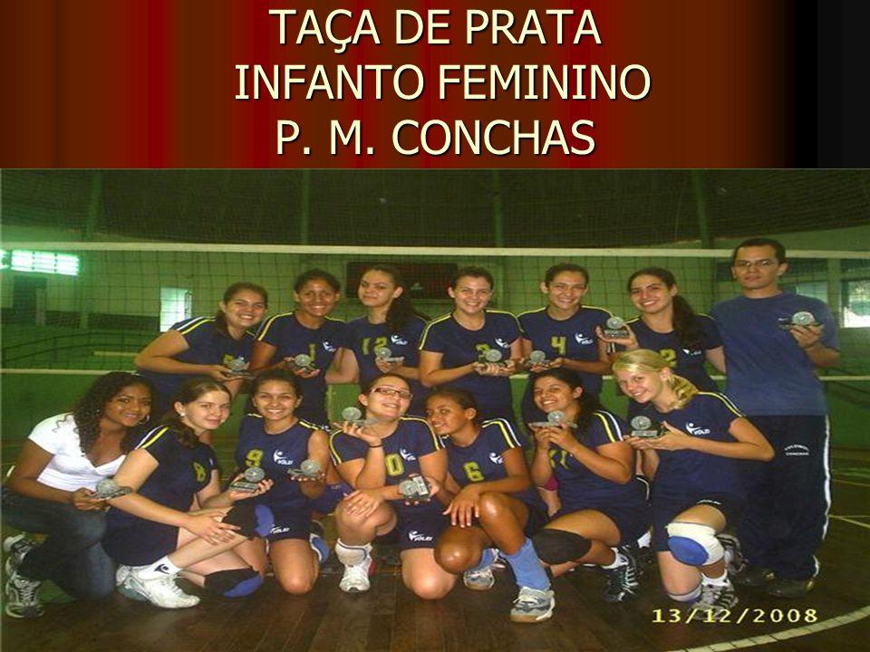 TAÇA DE PRATA INFANTO FEMININO P. M. CONCHAS