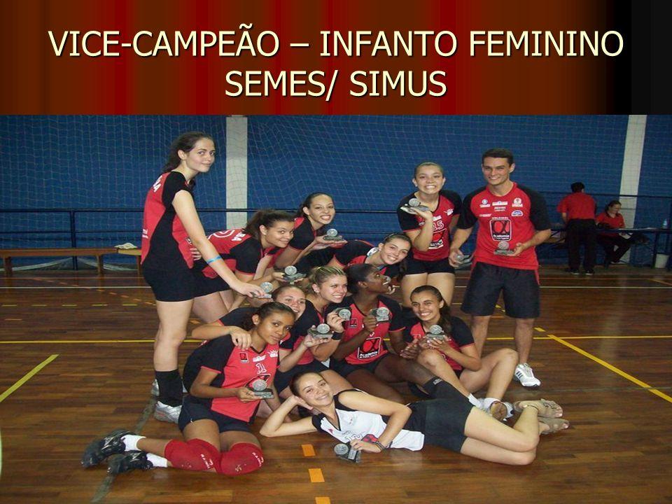 VICE-CAMPEÃO – INFANTO FEMININO SEMES/ SIMUS