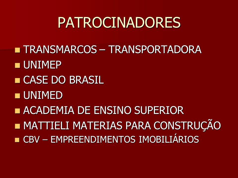 PATROCINADORES TRANSMARCOS – TRANSPORTADORA UNIMEP CASE DO BRASIL
