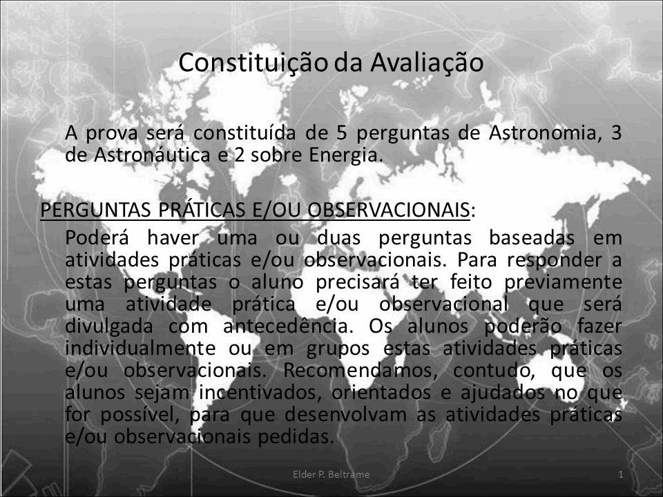 Constituição da Avaliação