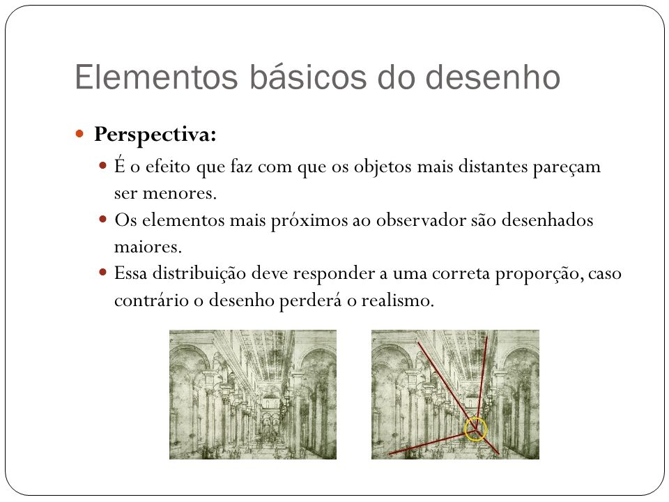 Elementos básicos do desenho
