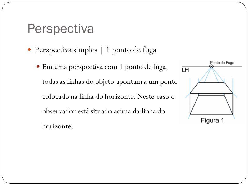 Perspectiva Perspectiva simples | 1 ponto de fuga