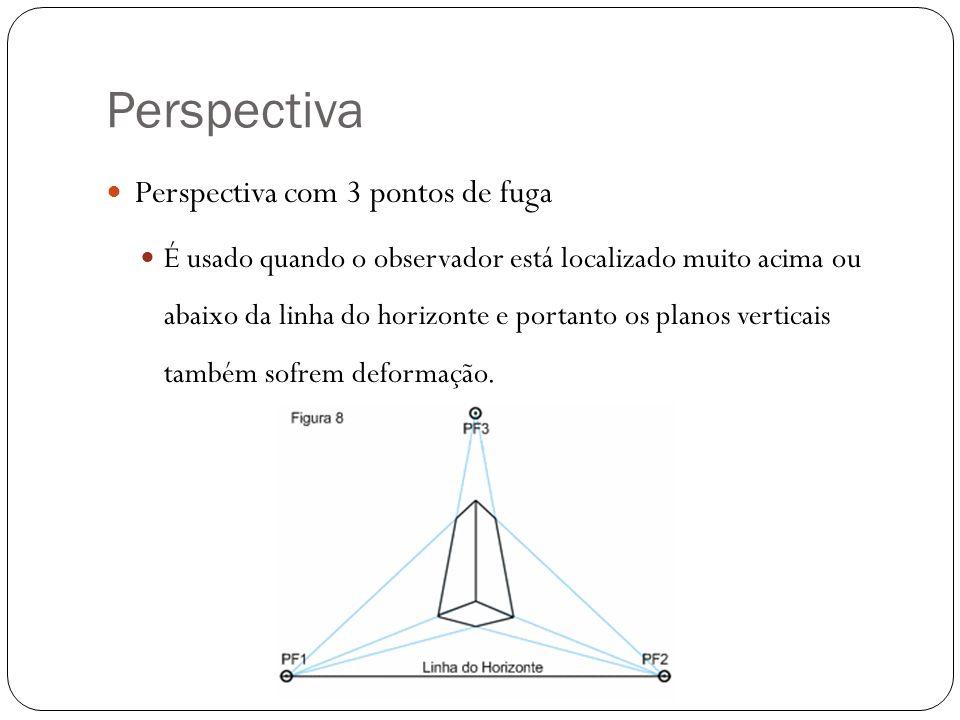 Perspectiva Perspectiva com 3 pontos de fuga