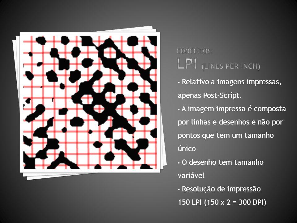 Conceitos: LPI (lines per inch)