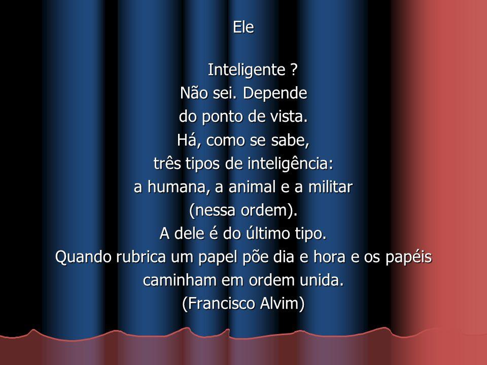 três tipos de inteligência: a humana, a animal e a militar