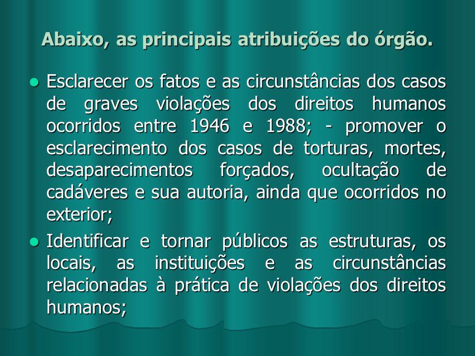 Abaixo, as principais atribuições do órgão.