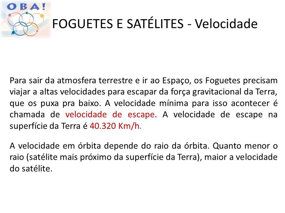 FOGUETES E SATÉLITES - Velocidade