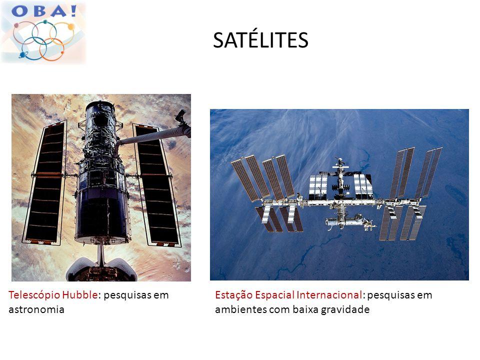 SATÉLITES Telescópio Hubble: pesquisas em astronomia
