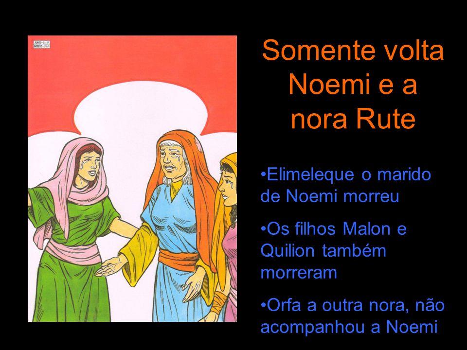Somente volta Noemi e a nora Rute
