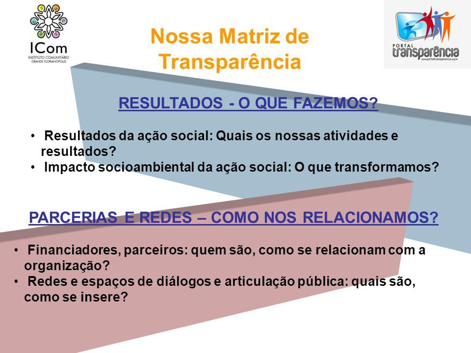 Nossa Matriz de Transparência