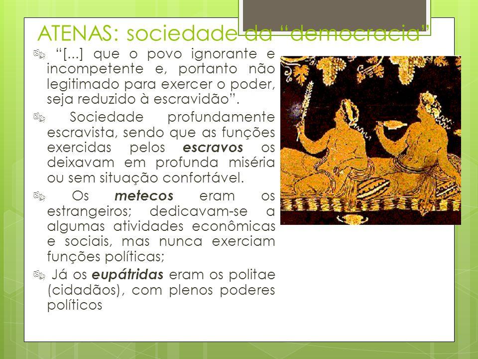 ATENAS: sociedade da democracia