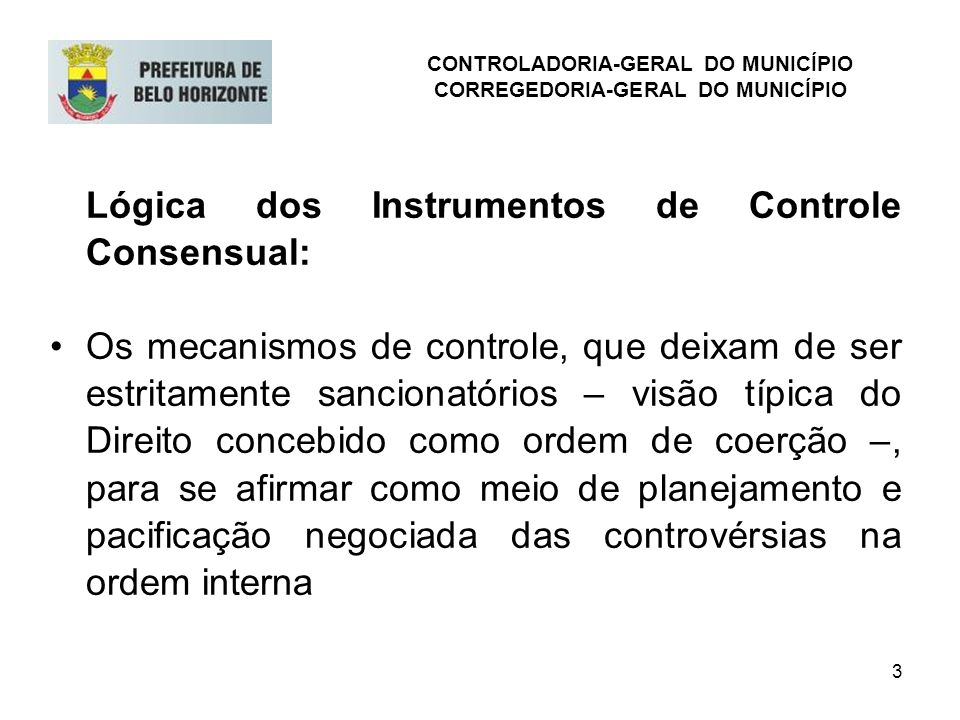 CONTROLADORIA-GERAL DO MUNICÍPIO CORREGEDORIA-GERAL DO MUNICÍPIO
