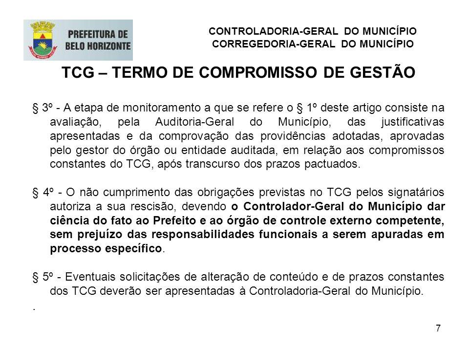 TCG – TERMO DE COMPROMISSO DE GESTÃO