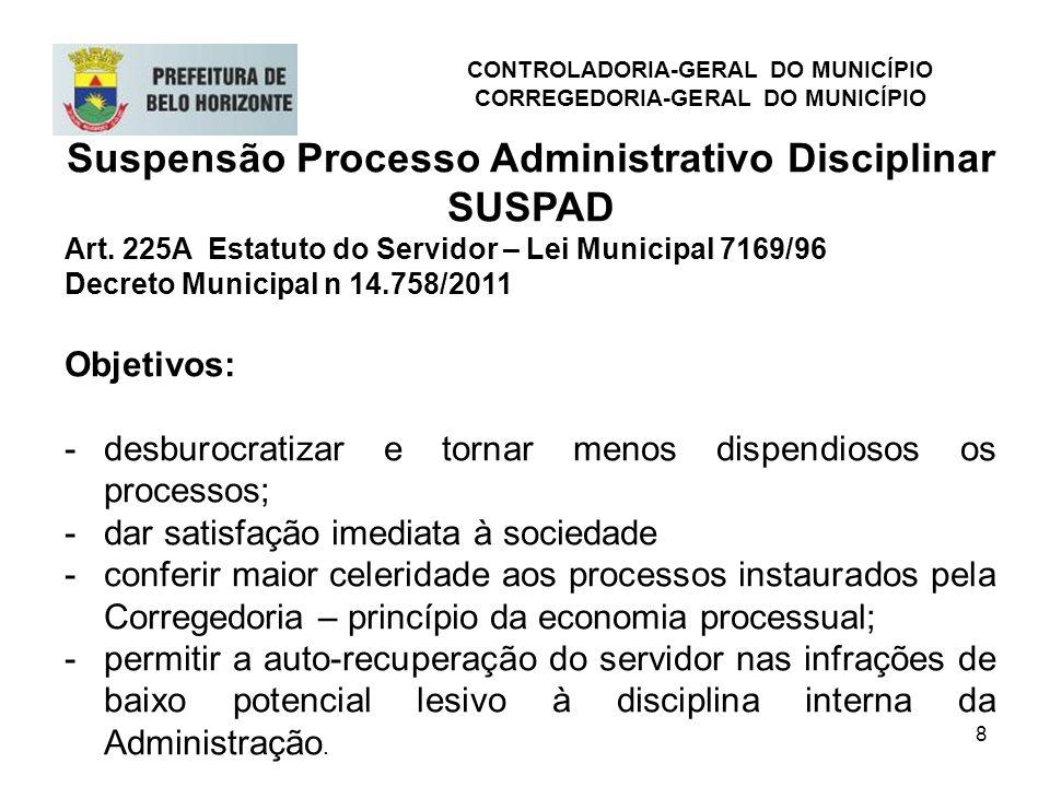 Suspensão Processo Administrativo Disciplinar