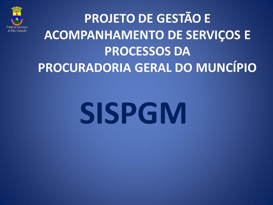 PROJETO DE GESTÃO E ACOMPANHAMENTO DE SERVIÇOS E PROCESSOS DA PROCURADORIA GERAL DO MUNCÍPIO