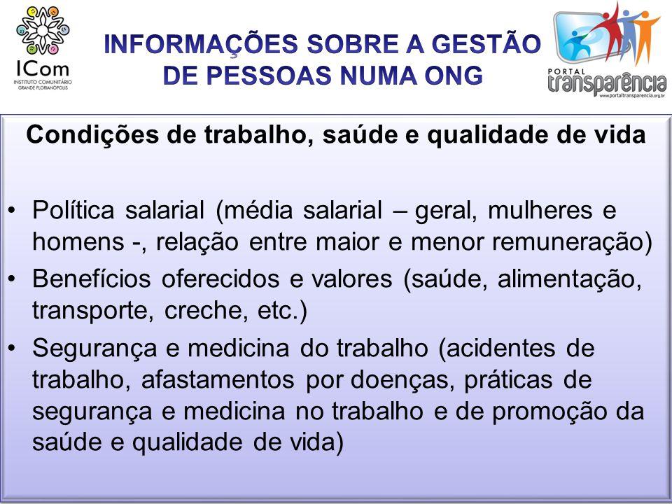 INFORMAÇÕES SOBRE A GESTÃO DE PESSOAS NUMA ONG