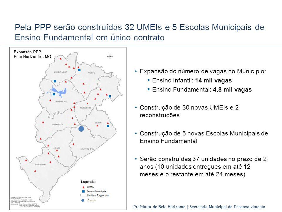 Pela PPP serão construídas 32 UMEIs e 5 Escolas Municipais de Ensino Fundamental em único contrato