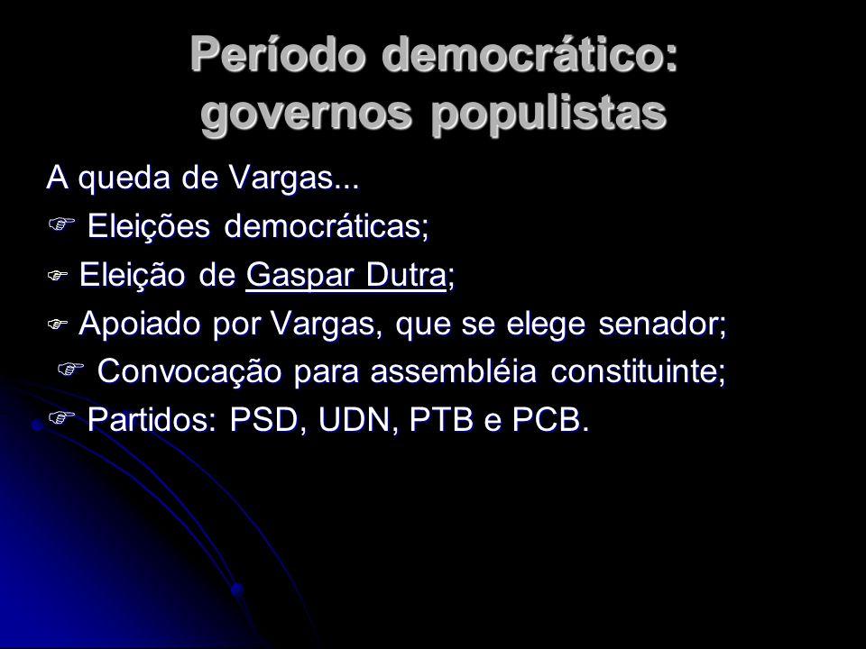 Período democrático: governos populistas