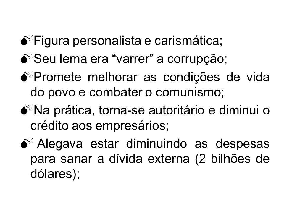 Figura personalista e carismática;