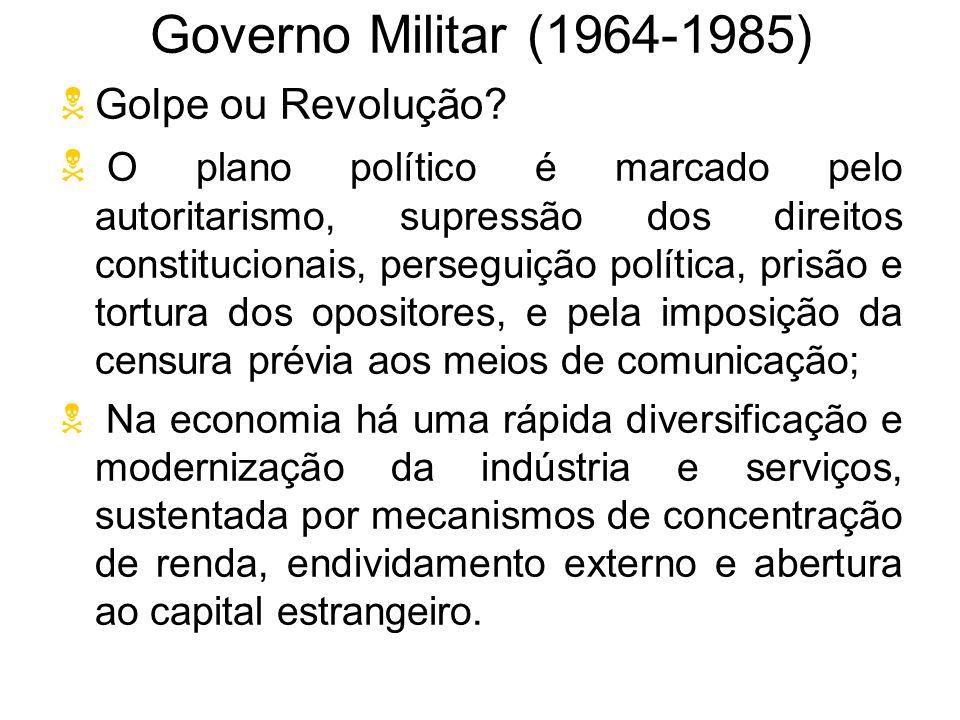 Governo Militar (1964-1985) Golpe ou Revolução