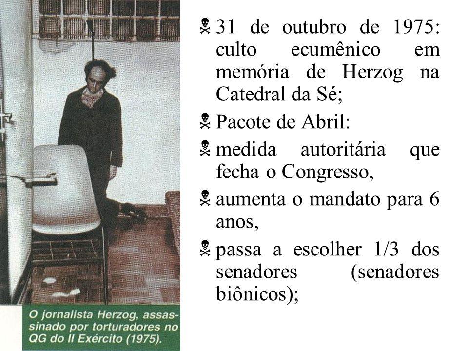 31 de outubro de 1975: culto ecumênico em memória de Herzog na Catedral da Sé;