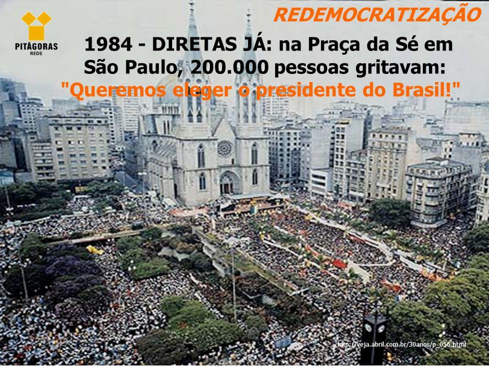 Queremos eleger o presidente do Brasil!