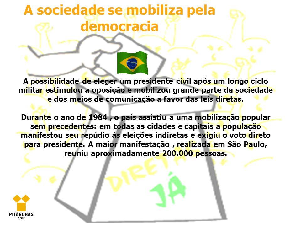 A sociedade se mobiliza pela democracia