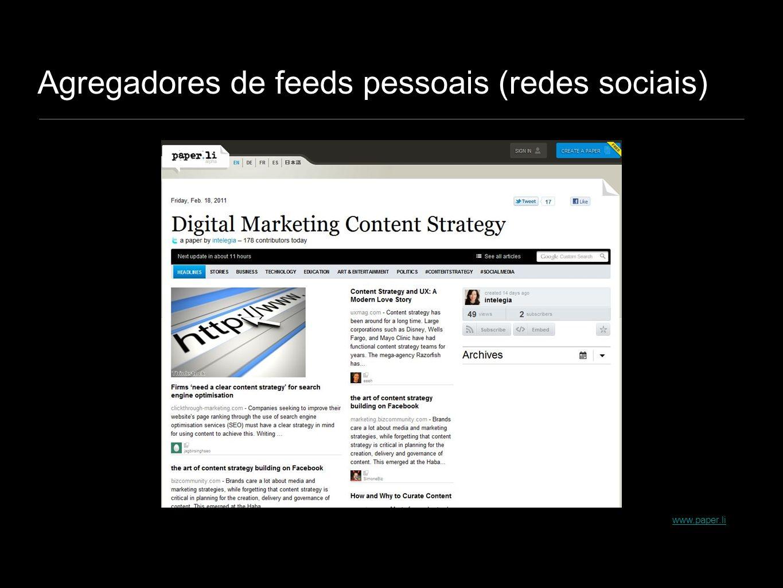Agregadores de feeds pessoais (redes sociais)