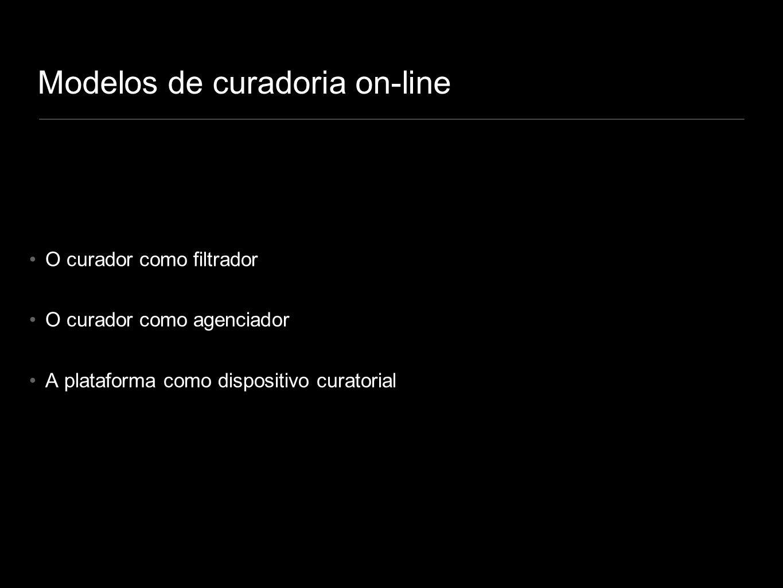 Modelos de curadoria on-line